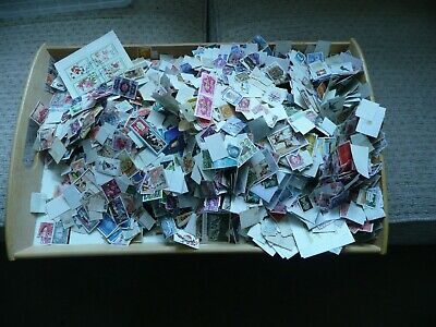 HUGE ACCUMULATION OF OVER 1kg UNSORTED OFF OFF PAPER LOOSE STAMPS FOR SORTING