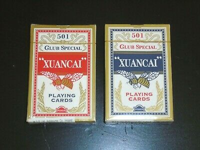 """XUANCAI"" No.501 Classic Playing Cards Decks of Red & Blue Poker Children Game"