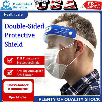 1/5/10pcs Clear Safety Face Shield Eyes Full Face Covering Protector Guard Tool