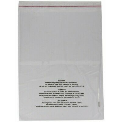 Uline Suffocation Warning Poly Bag, 1.5 ml Self-Sealed, 100 Count (S-19131) 1...