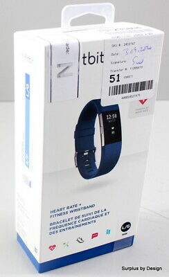 *NEW SEALED*Fitbit Charge 2 Heart Rate & Fitness Wristband, Large, Navy