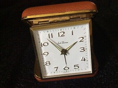 Vintage Seth Thomas Travel Alarm Clock Made In Germany Works