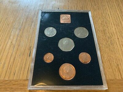 ROYAL MINT 1971 PROOF SET, FIRST DECIMAL ISSUE, 6 COINS  - Bright coins