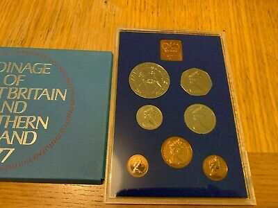 1977 Royal Mint United Kingdom and Northern Ireland UNC PROOF Coin Set!