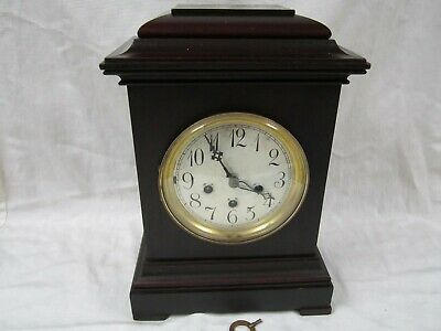Antique Large Classic Junghans A09 8 Day Bracket Clock Westminster Chimes Runs