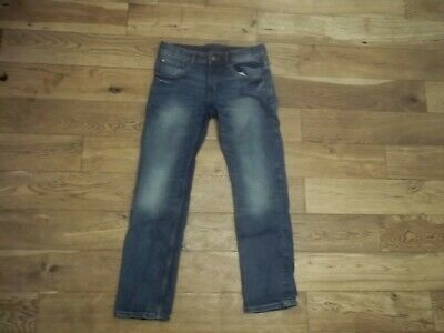 ** H & M** BOYS MED BLUE STRAIGHT LEG JEAN SIZE 11-12 YEARS with AJ/WAIST * VGC*