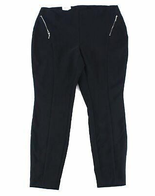 INC Womens Pants Ink Black Size 20W Plus Skinny Leg Mid-RiseStretch $79 349