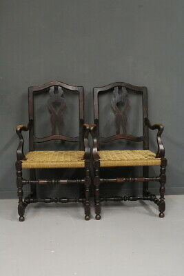 Pair of Armchairs/ Ancient/ a Spool / Woven/Period End '800