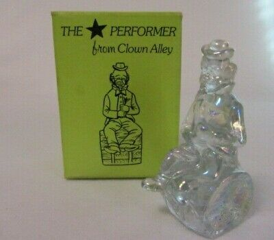 1982 Mosser The Star Performer Toby Barrel Clown Crystal Carnival Marked M
