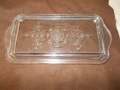 Vintage Glass Refrigerator Dish Loaf Pan  Replacement Lid