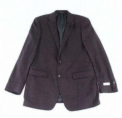 Calvin Klein Mens Suit Separates Red Size 38 Two Button Sport Coat $295 016