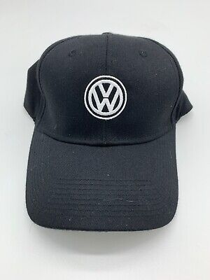 """Volkswagen Driver Gear Blue Black White Bill Cap Hat WITH Embroidered /""""VW/"""" Logo"""