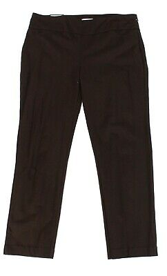 Charter Club Womens Pants Brown Size 20W Plus Slim-Leg Pull-On Stretch $69 110