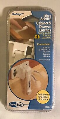 Safety 1st Ultra Secure Cabinet & Drawer Latches 4-pack