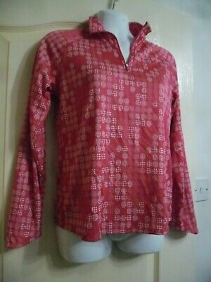 Nike Dri-Fit Casual Pink Light Weight Long Sleeved Zip Neck Top Age 13/15 Years