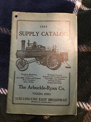 1924 Supply Catalog No. 18 The Arbuckle Ryan Co. Gas Engine Book