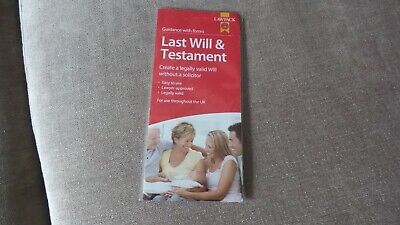 1 Last Will & Testament lawPack: How to Create a Legally Valid Will without a...