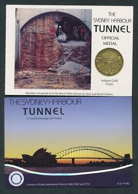Australia 1992 Opening of Sydney Harbour Tunnel Official Medal with Postcards