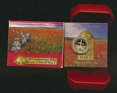 Australia: 2008 $25 End of WWI 90th Anniversary 1/4oz  9999 Gold Coin Proof