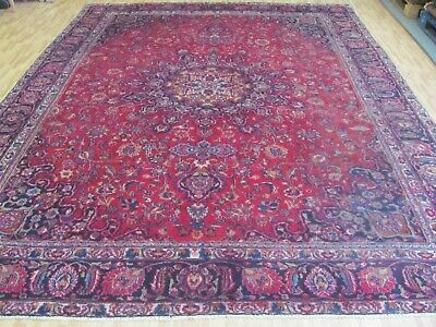 A SENSATIONAL OLD HANDMADE TRADITIONAL ORIENTAL CARPET (380 x 285 cm)