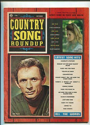 Country Song Roundup Oct 1971 Lynn Anderson Mel Tillis Jerry Reed   MBX86