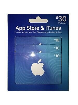 Apple App Store And iTunes £30 pound UK GBP gift card voucher