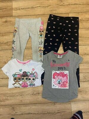 Girls 6-7 Years Clothing Bundle Lol Outfit, Leggings And Top