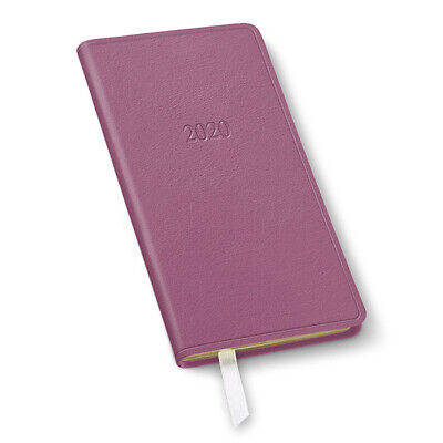 2020 Leather Pocket Weekly Planner - Camden Orchid