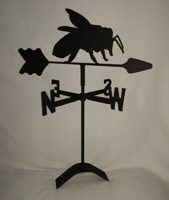 Honey Bee Roof Mount Weathervane black wrought iron look made in usa