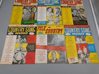Lot Of 10 Country Song Roundup 1959 Elvis Reeves Pearl Tubb Dickens Husky Ms1574
