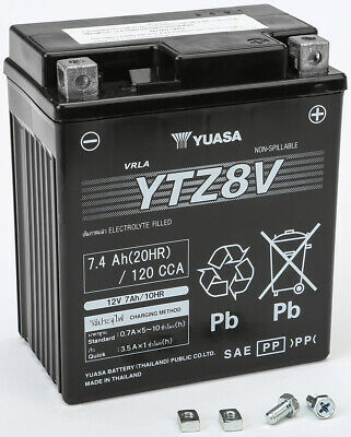 AGM Maintenance Free Battery YTZ8V Yuasa YUAM728ZV