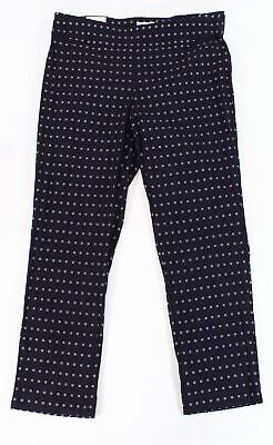 Charter Club Womens Pants Blue Size 16W Plus Printed Slim Leg Stretch $79 200