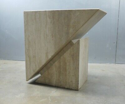 Excellent Mid Century MODERNIST Travertine MARBLE Coffee Table BASE ONLY Italy ?