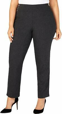 Charter Club Womens Pants Gray Size 22W Plus Pull On Slim Ankle Stretch $79 387