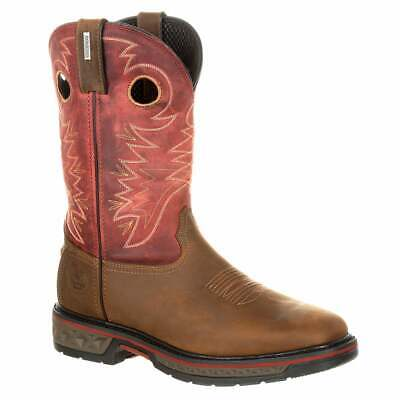Georgia Boots Carbo-Tec Waterproof Pull-On  Casual   Work & Safety Brown Mens -