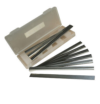 Box of 10-82mm HSS Reversible Planer Blades for Makita, Black and Decker, and