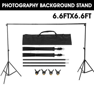 2M 6.6Ft Adjustable Background Support Stand Studio Crossbar Photo Photography