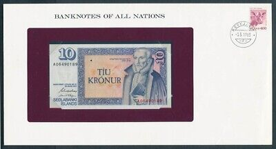 """World: 1968-83 Banknote/Stamp Cover """"SET 10 DIFFERENT"""" Banknotes of all Nations"""