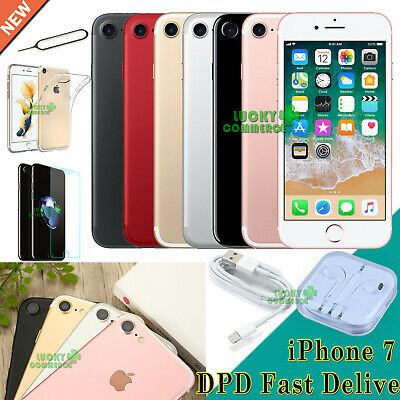 NEW Apple iPhone 7 Mobile Smartphone 32GB 128GB 256GB Unlocked All Colors UK