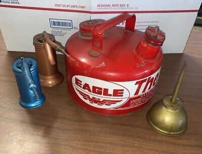 Eagle Gasser And Oil Cans Flexible 4 Items Total NB