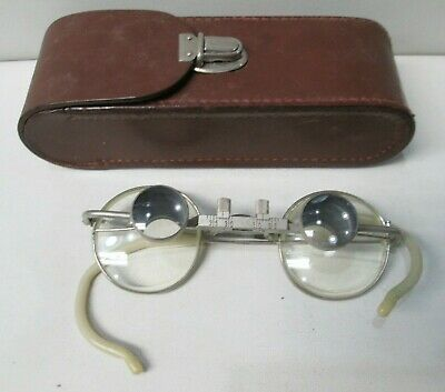 Vintage Carl Zeiss Jena 2X Potical Eyeglasses with Case