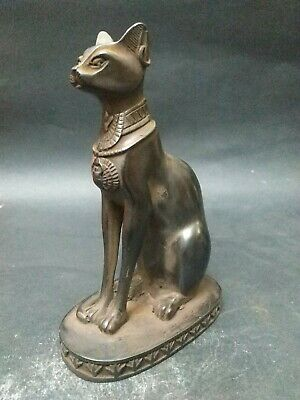 RARE ANCIENT EGYPTIAN ANTIQUE Cat Bastet Carved Stone For decoration 1456 bc