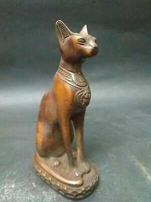 RARE ANCIENT EGYPTIAN ANTIQUE Cat Bastet Carved Stone For decoration 1456-