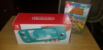 Nintendo switch Lite (Turquoise)+ Animal Crossing new Horizons Game  1 day aucti