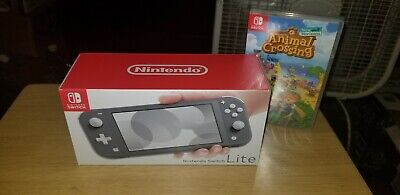 Nintendo switch Lite (Gray)+ Animal Crossing New Horizons Game  1 day auction