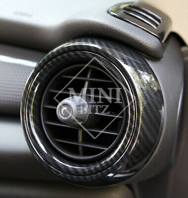 UK STOCK X6 CARBON LOOK Dash Air Vent Cover Trims for MINI Cooper S F55 F56 F57