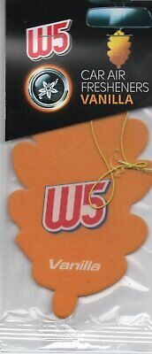 W5 - Car Air Freshener - Vanilla                                *New And Sealed*