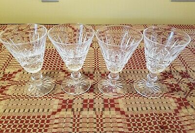 Waterford Maeve Cut CRYSTAL ~  White Wine Glass goblet PERFECT MINT tramore 5""
