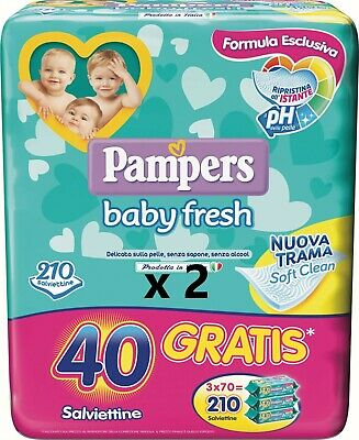 Pampers Baby Fresh   2 X 210, = 420  Promo!!!!