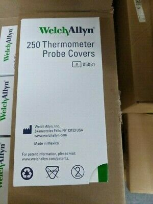 Box of 250 - Welch Allyn 05031 Thermometer Probe Covers - New